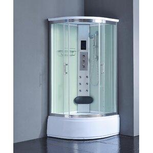 36  x 36  x 83  Corner Shower EnclosureCurved Shower Stalls   Enclosures You ll Love   Wayfair. Small Corner Shower Enclosures. Home Design Ideas
