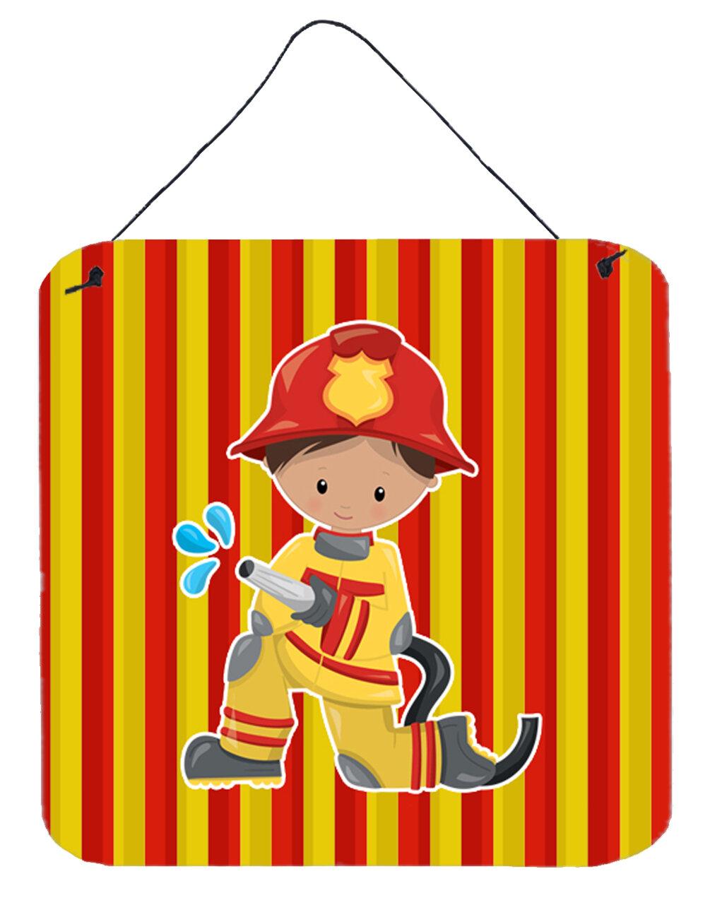 Zoomie Kids Fireman Boy Aluminum Wall Décor | Wayfair