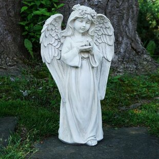 Northlight Seasonal Standing Girl Angel Outdoor Garden Statue
