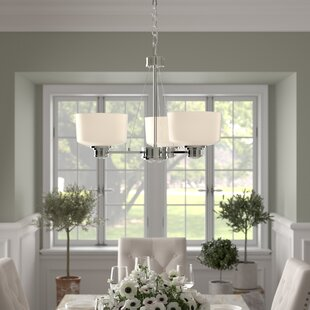 Isabell 3-Light Shaded Chandelier by Birch Lane? Heritage