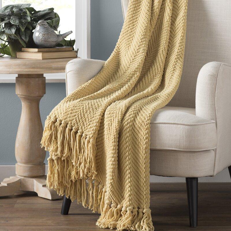 Three Posts Nader Tweed Knitted Throw Reviews Wayfair