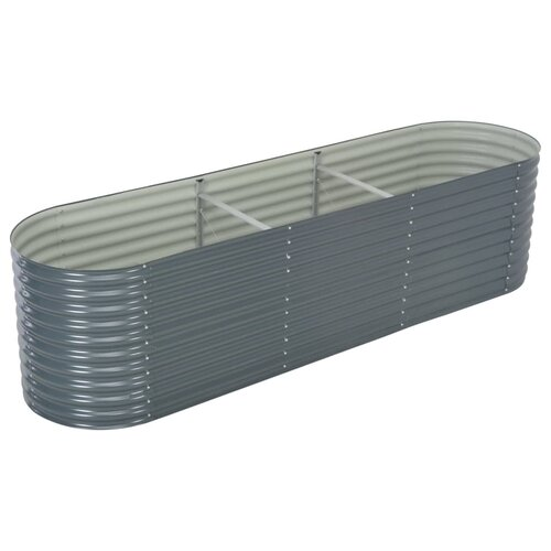 Garden Metal Planter Box Freeport Park Colour: Grey, Size: 8