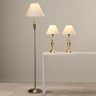 Best Reviews Maude 3 Piece 63.5'' Table Lamp Set By Alcott Hill