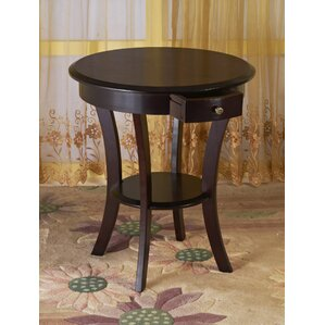 Leander End Table With Storage by Char..