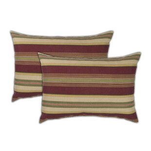 Roxbury Boudoir Outdoor Lumbar Pillow (Set of 2)
