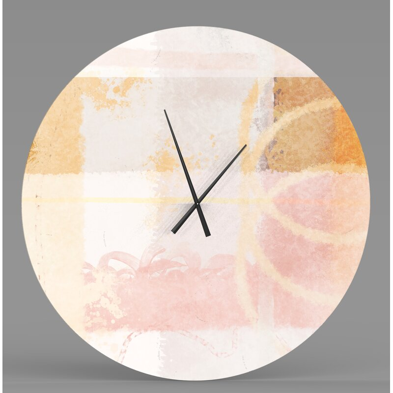 Ebern Designs Manly Scintillating Abstract Wall Clock Wayfair Ca