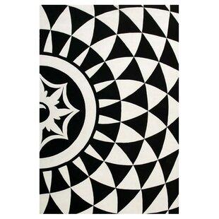 Reviews Ririe Hand-Tufted Black/White Area Rug ByThe Conestoga Trading Co.