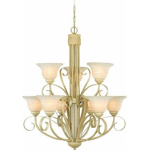 Coupon 9-Light Shaded Chandelier By Volume Lighting