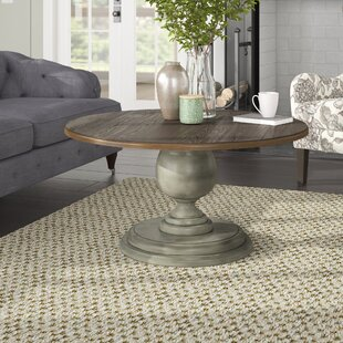 Sandbach Round Pedestal Coffee Table by Three Posts