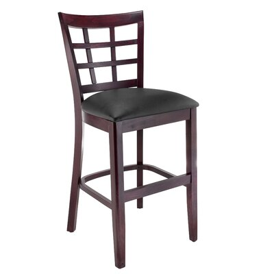 Harner 24 Bar Stool August Grove Color: Dark Mahogany