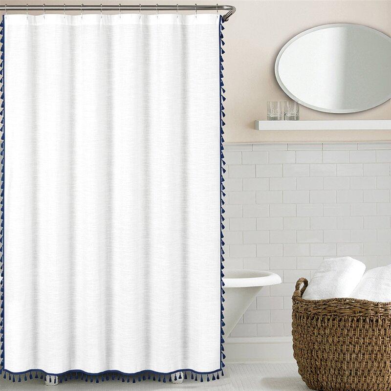 Octavia 100 Cotton Tassel Single Shower Curtain Reviews Allmodern