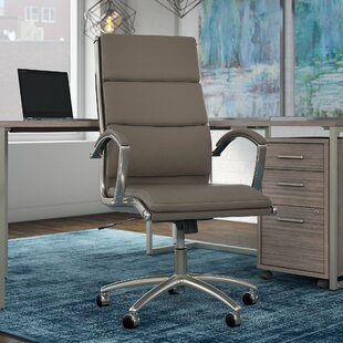 Office by kathy ireland® Method High Back Leather Executive Chair in White