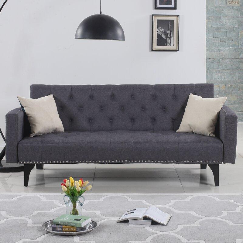 Rather Modern Tufted Reclining Sleeper Sofa