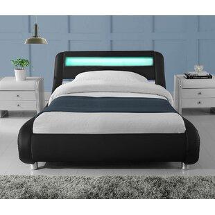 Augustus LED Lights Low Designer Upholstered Bed Frame By Brayden Studio