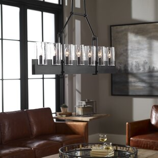 Gracie Oaks Raelynn Island Linear 7 -Light LED Cylinder Pendant