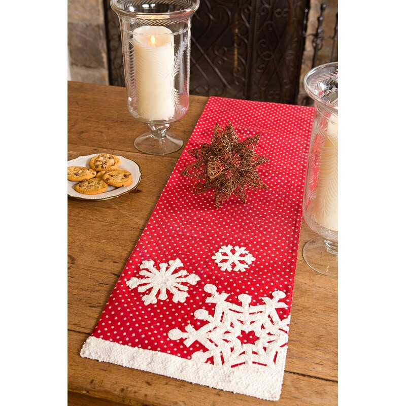 Xia Home Fashions Snowflake Christmas Table Runner Reviews Wayfair