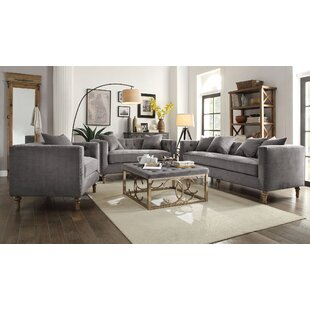 One Allium Way Aili 3 Piece Living Room Set