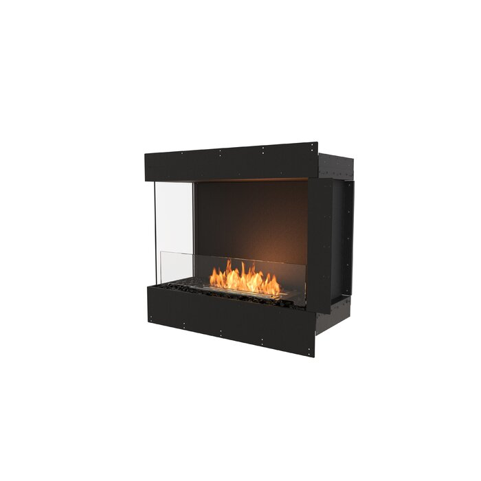 Flex Left Corner Recessed Wall Mounted Bio Ethanol Fireplace