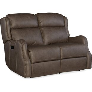 Sawyer Power Leather Reclining Loveseat Hooker Furniture