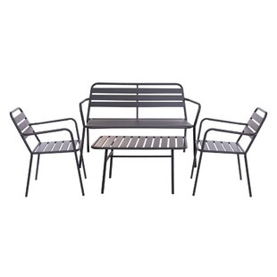Meleze 4 Seater Conversation Set By Sol 72 Outdoor