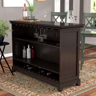 Darby Home Co Groveland Bar with Wine Storage