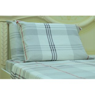 Red Barrel Studio Myaa Plaid & Check 190 Thread Count 100% Cotton Sheet Set