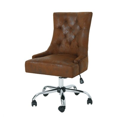 Anja Home Task Chair Color: Brown by Andover Mills