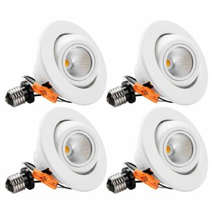 LED Recessed Lighting Kit (Set of 4) by TORCHSTAR