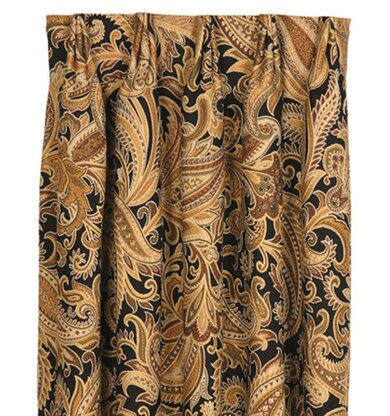 Langdon Paisley Room Darkening Pinch Pleat Single Curtain Panel