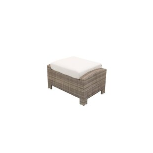 Nugent Rectangle Outdoor Ottoman with Sunbrella Cushion by Rosecliff Heights