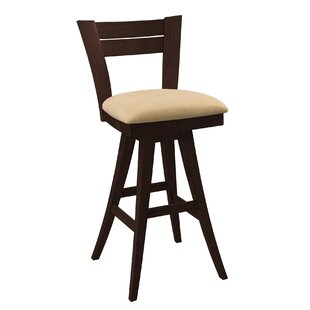 Ines Square Swivel Bar Stool by Red Barre..