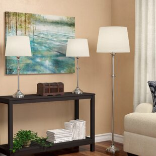 Tully 3 Piece Adjustable Table and Floor Lamp Set