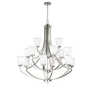 Darby Home Co Elkton 15-Light Shaded Chandelier