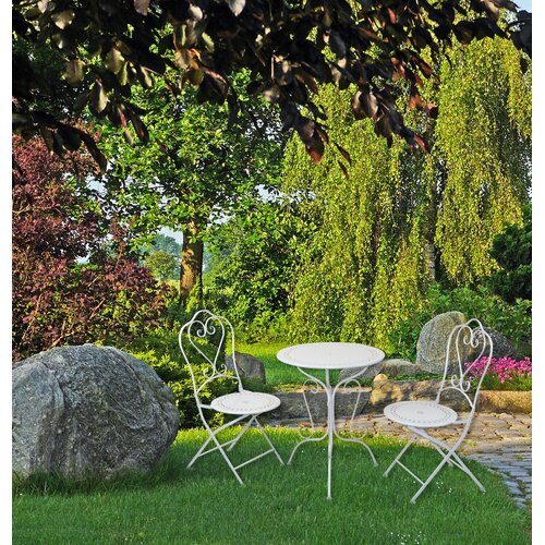 2-Sitzer Balkonset   Garten > Balkon   Weiß   Metall - Rattan - Polyester   Home & Haus