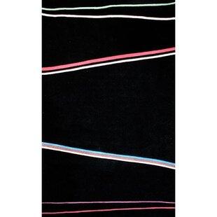 Inexpensive Bright Matrix Blacki Area Rug ByAmerican Home Rug Co.