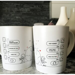 Wish You Were Here Couple Coffee Mug (Set of 2)