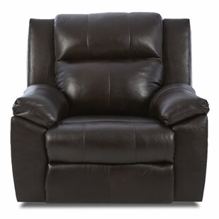 Ames Leather Power Recliner by Darby Home Co
