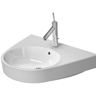 Comparison Starck Ceramic 26 Wall Mount Bathroom Sink with Overflow By Duravit