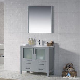 Mance 35 Single Bathroom Vanity Set with Mirror by Orren Ellis