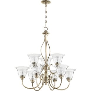 Quorum Spencer 9-Light Shaded Chandelier