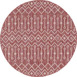 Julieta Red/White Indoor/Outdoor Area Rug by Gracie Oaks