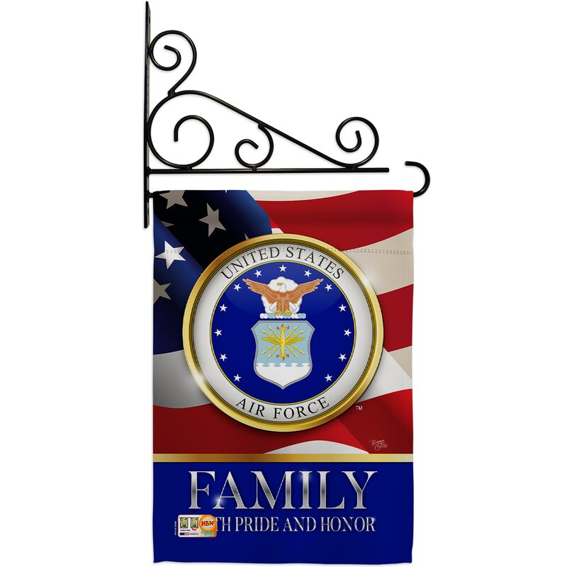 Breeze Decor Family Honor 2 Sided Polyester 19 X 13 In Flag Set Wayfair