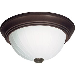 Price comparison Hudgins 2-Light Outdoor Flush Mount By Charlton Home