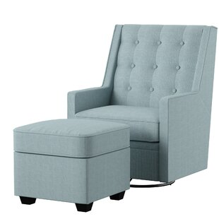 West Hill Swivel Chair and Ottoman