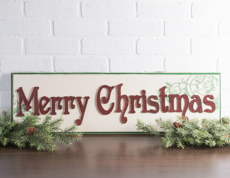The Holiday Aisle Marielle Santa Days Til Christmas Hanging Sign Reviews Wayfair Ca
