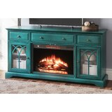 TV Stand for TVs up to 65 with Electric Fireplace Included by Canora Grey