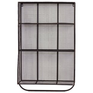 Urban Trends 9 Hole Metal Wall Cubby with..