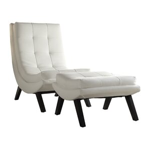 Woodbine Lounge Chair and Ottoman by Wade Logan