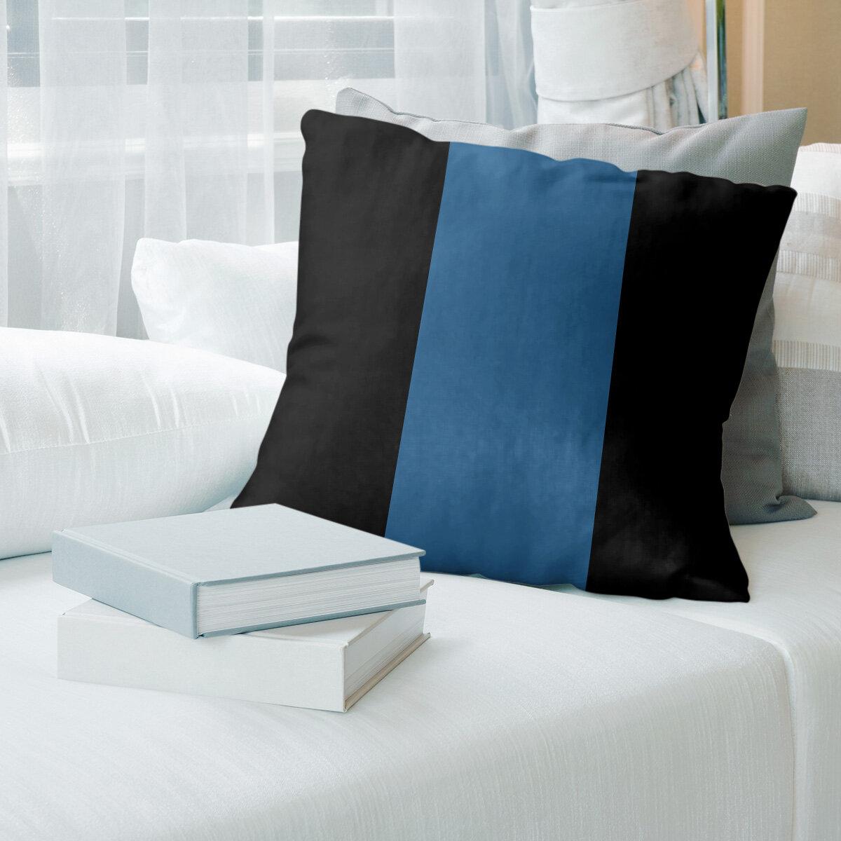 East Urban Home Colorado Hockey Striped Pillow Cover Wayfair