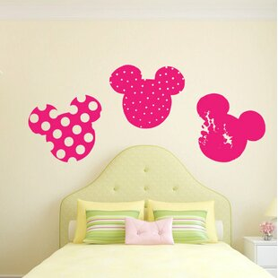 Mickey And Minnie Mouse Heads Wall Decal